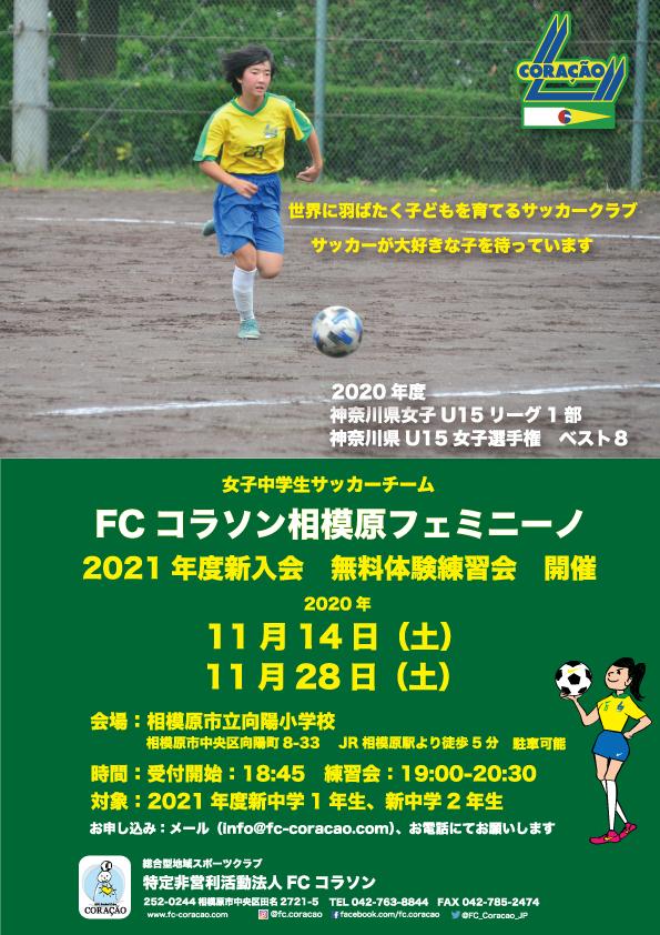 20)フェミニーノ練習会ポスター