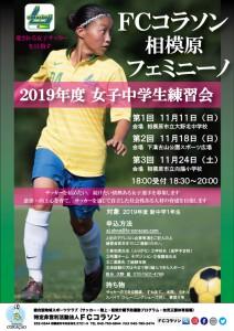 2019年度コラソンフェミニーノ練習会